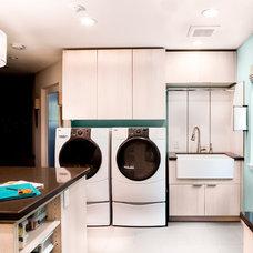 Transitional Laundry Room Transitional Laundry Room