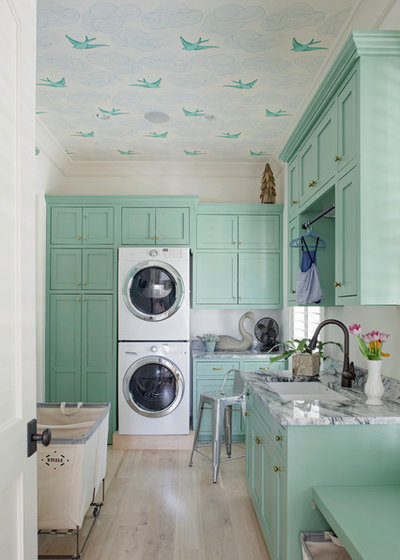 Transitional Laundry Room Transitional Laundry Room