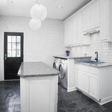 Transitional Laundry Room by Silver Leaf Construction & Renovation