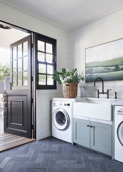 Transitional Laundry Room by The English Tapware Company