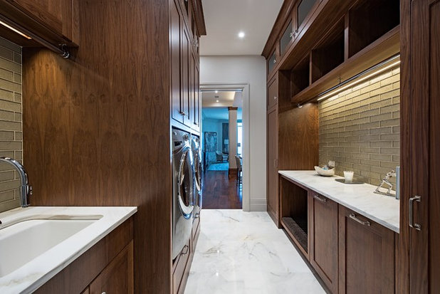 Vintage Transitional Laundry Room by Westin Hills
