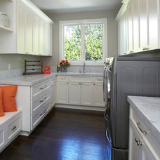 Transitional Laundry Room by Fautt Homes