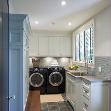 Contemporary Laundry Room by Meredith Heron Design
