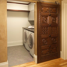 Eclectic Laundry Room by JALIN Design, LLC