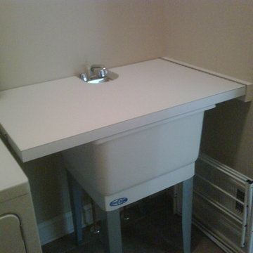 Turn Utility Sink Into Folding Surface/Countertop