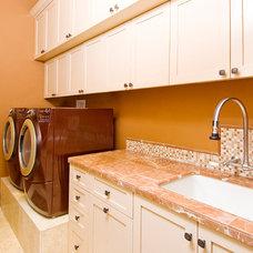 Mediterranean Laundry Room by Kirsti Wolfe Designs