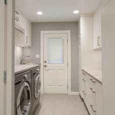 Contemporary Laundry Room by Kenorah Design + Build Ltd.
