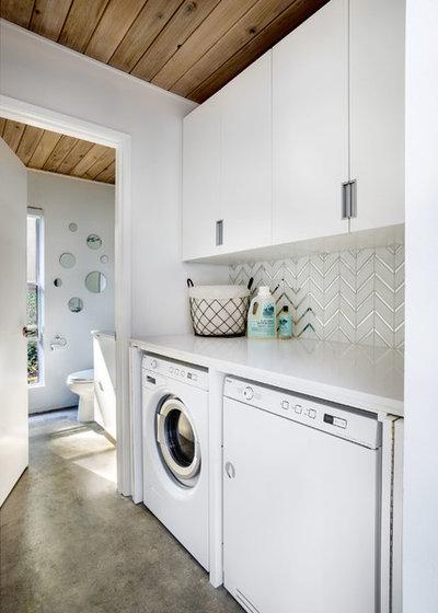Midcentury Laundry Room by Garrison Hullinger Interior Design Inc.