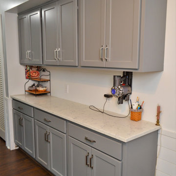 Upgraded Gray Maple Kitchen. Haas Signature Collection