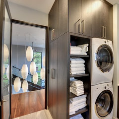 contemporary laundry room Upper level laundry room
