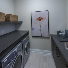 Contemporary Laundry Room by Averton Homes