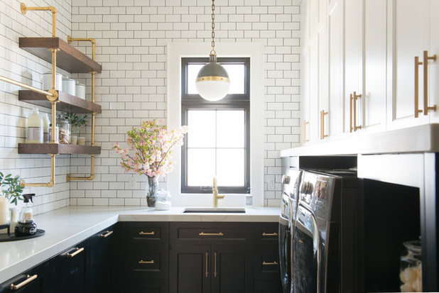 Transitional Laundry Room by Gatehouse No. 1 Furniture & Interior Design