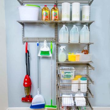 Utility Closet and Laundry Room Organization   Organized Living freedomRail