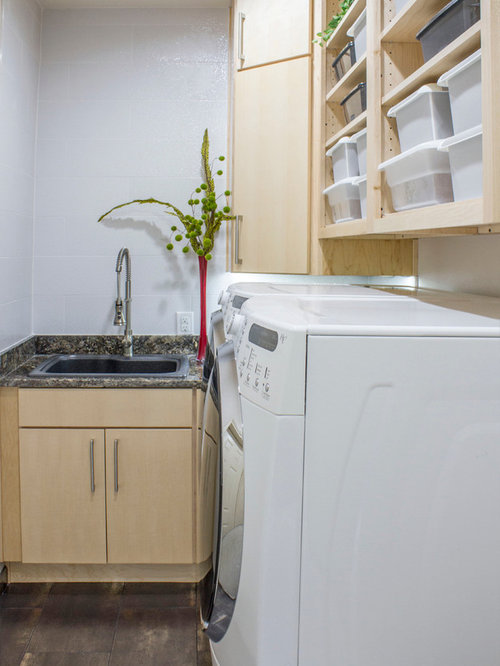 Laundry room design ideas remodels photos with granite for Laundry room sink and countertop