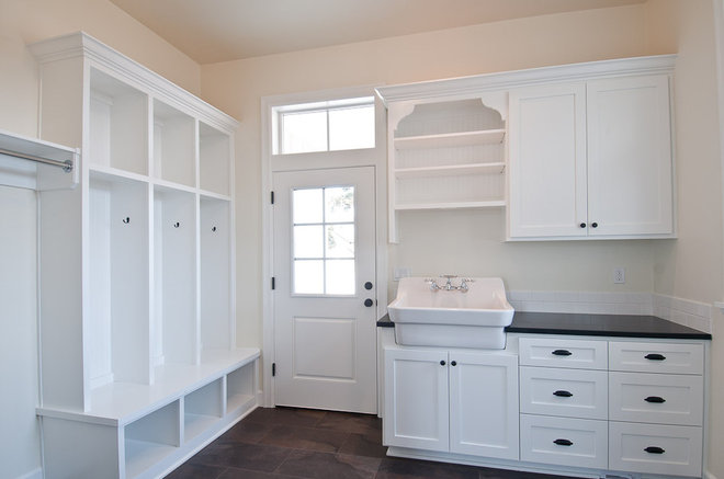 Traditional Laundry Room by dC Fine Homes & Interiors