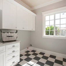 Traditional Laundry Room by fersht studio