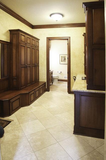 Mediterranean Laundry Room by Barenz Builders