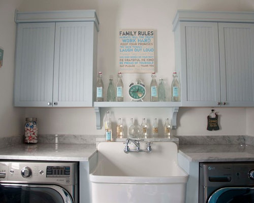 farmhouse laundry room idea in dc metro - Laundry Room Decor