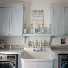 Farmhouse Laundry Room by High Ridge Homes