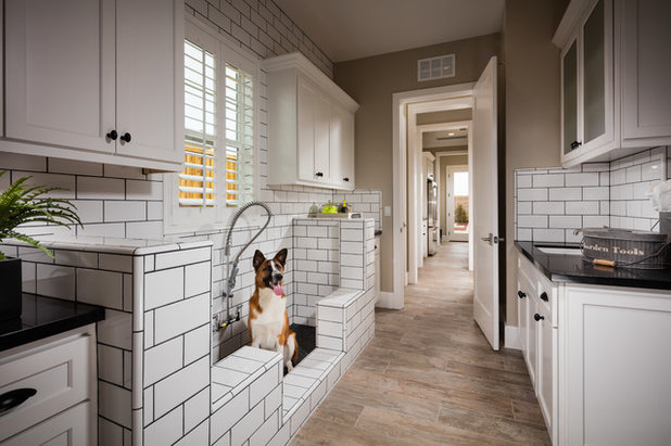 Transitional Laundry Room by Shea Homes Northern California