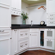 Transitional Laundry Room by Woodland Cabinetry