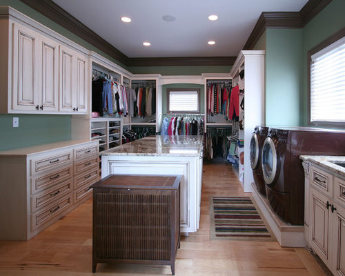 Washer dryer in master closet home design ideas pictures for House plans with laundry room attached to master bedroom