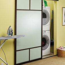 Contemporary Laundry Room by The Sliding Door Company