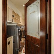 Rustic Laundry Room by Gunson Custom Mountain Architects