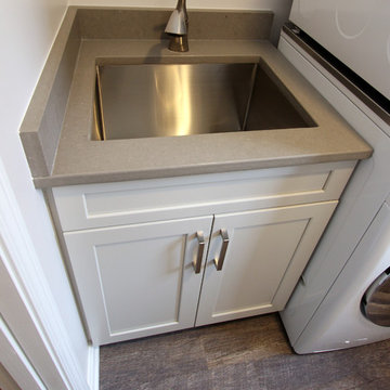 Waypoint Painted Harbor Cabinets and Lenova