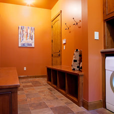 Traditional Laundry Room by Crestwood Construction Inc.