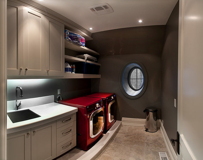 Contemporary Laundry Room by HUSH