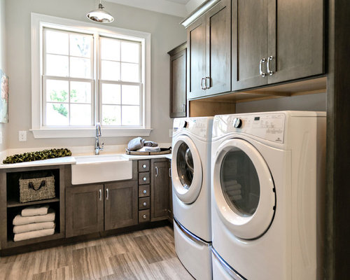 50 Laundry Room With Marble Benchtops And Laminate Floors Design