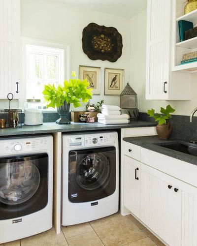 Farmhouse Laundry Room by Broc Granite & Tile, LLC