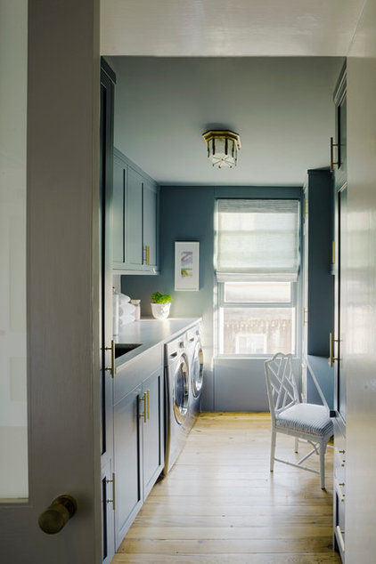 Contemporary Laundry Room by Rethink Design Studio