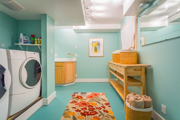 Beach Style Laundry Room by Cassie Daughtrey Realogics Sotheby's Realty