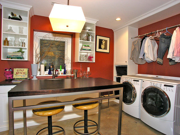 Transitional Laundry Room by Visbeen Architects