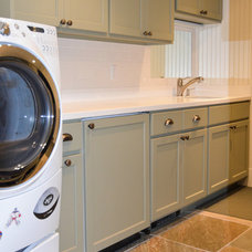 Traditional Laundry Room by Daniel Contelmo Architects