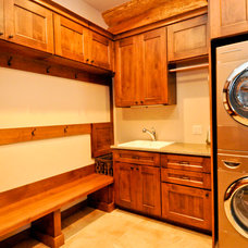 Laundry Room by Mountain Log Homes of CO, Inc.