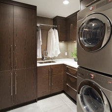 Contemporary Laundry Room by Old World Kitchens & Custom Cabinets
