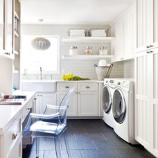 Traditional Laundry Room by Kriste Michelini Interiors