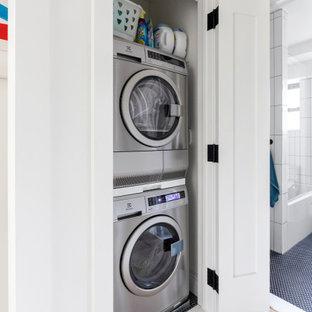 Danish laundry room photo in New York