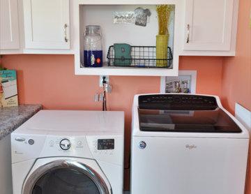 White Modern Farmhouse Kitchen & Baths. Dura Supreme Cabinetry