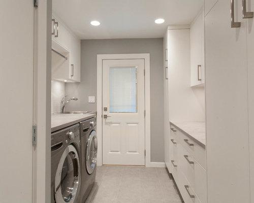 Foto e idee per sale lavanderia sala lavanderia moderna con