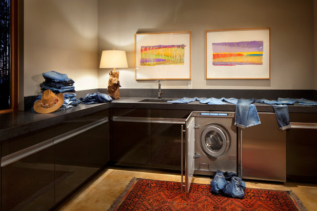 Contemporary Utility Room by Cushing Terrell