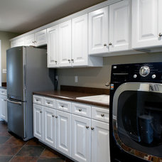 Contemporary Laundry Room by Metzler Home Builders