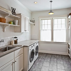Traditional Laundry Room by Jacqueline Zinn