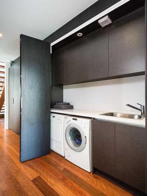 buanderie moderne de taille moyenne photos et id es d co. Black Bedroom Furniture Sets. Home Design Ideas