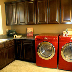 traditional laundry room by Castalia Homes, LLC