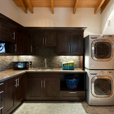 Rustic Laundry Room by site lines architecture inc.