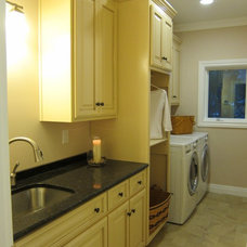 Traditional Laundry Room by Indigo Granite and Tile